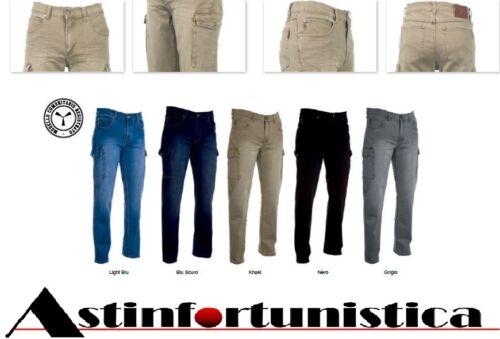 Casual Comodi Cargo Lavoro Pantaloni Uomo Novita' Jeans Elasticizzato Tasconi wqfnH4U