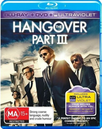 1 of 1 - THE HANGOVER PART 3 -- (Blu-Ray + Dvd+ Ultraviolet) - Like New & FREE POSTAGE