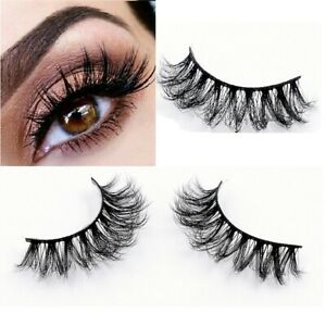 10Pairs-Luxurious-3D-Mink-False-Eyelashes-Wispy-Cross-Fluffy-Extension-Lashes