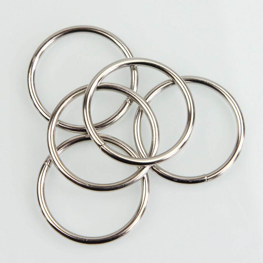 """10PCS 1.73/"""" Nickel Non Welded Metal Round O Ring for Bags Key Chains Key-Rings"""