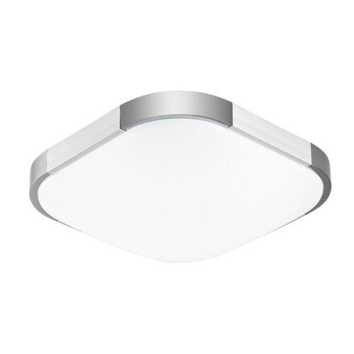 Ultraslim Deckenleuchte LED Badleuchte Deckenlampe Dimmbar Silber Flurlampe 96W