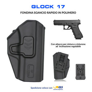 Fondina-in-Polimero-per-Glock-17-sgancio-rapido-cintura-polizia-militare