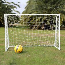 6 X 4ft Football Soccer Goal Post Net for Kids Outdoor Football Match Training