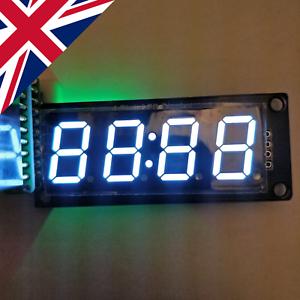 """TM1637 backpack 5 V Arduino White 0.56"""" 14mm 4-digit 7-segment display"""