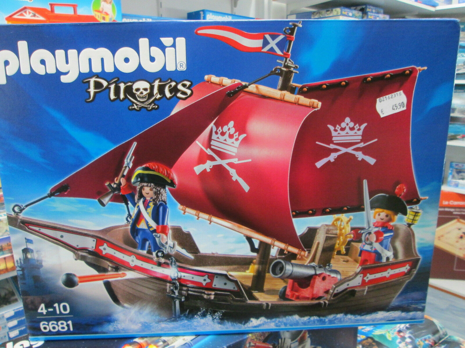 PLAYMOBIL  NEUF   REF 6681 CHALOUPE DES SOLDATS
