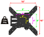 Corner-Full-Motion-TV-Wall-Mount-Articulating-Bracket-32-47-50-55-Inch-LED-LCD miniatura 4