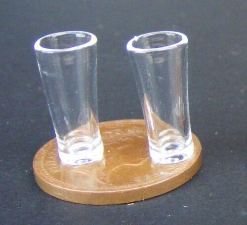 1:12 escala 2 Pinta Cerveza Gafas tumdee casa de muñecas en miniatura accesorios GLA41