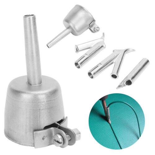 4x Speed 5mm Weld Tip Welding Nozzles For Vinyl Plastic Hot Air Gun Fittings