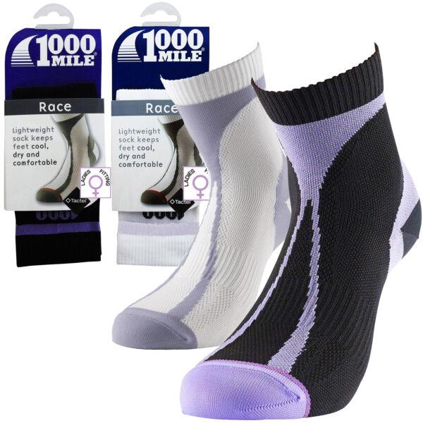1000 Mile Tactel Transpirable Ligero Running Entrenamiento Para Mujer Calcetines Deportivos Carrera-ver