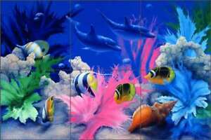Undersea-Tile-Backsplash-Miller-Dolphin-Fish-Ceramic-Mural-DMA2010
