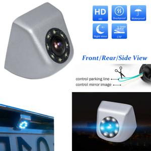Car-Front-Side-Rear-View-Backup-Camera-Reversing-8-LED-Night-Vision-Waterproof