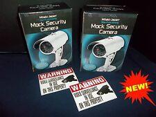 LOT FAKE HOME SECURITY DUMMY CAM SPY VIDEO CCTV CAMERAS+LED MOTION LAMP LIGHT