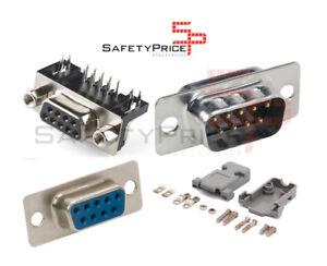 Conector-DB9-Macho-Hembra-Male-Female-9-pin-9p-pcb-placa-carcasa-case-Chasis-SP