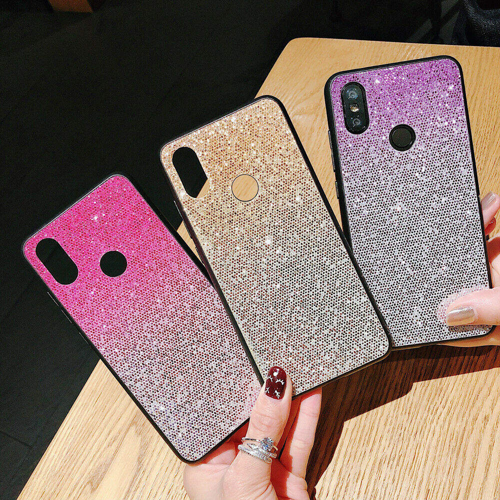 Luxury Glitte Bling Protective PC Back + Silicone Rubber Soft Case Lot Cover XX1