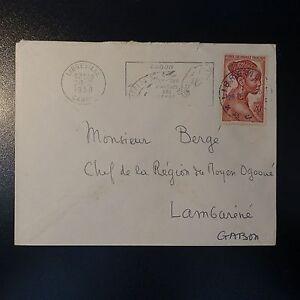 Afrika Gabun Gabun Aef Brief Cover 1958 Libreville Pr Chef Region Des Mittelgroß OgoouÉ Angenehm Im Nachgeschmack