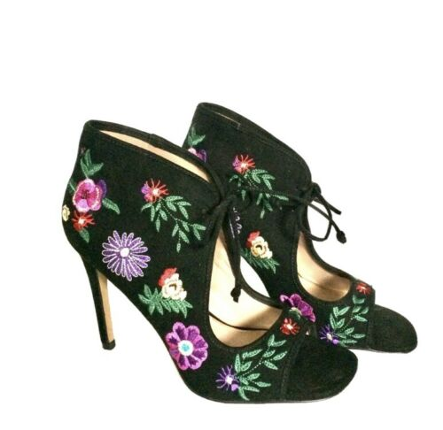 Betsy Johnson Ciara Floral Embroidered Heels