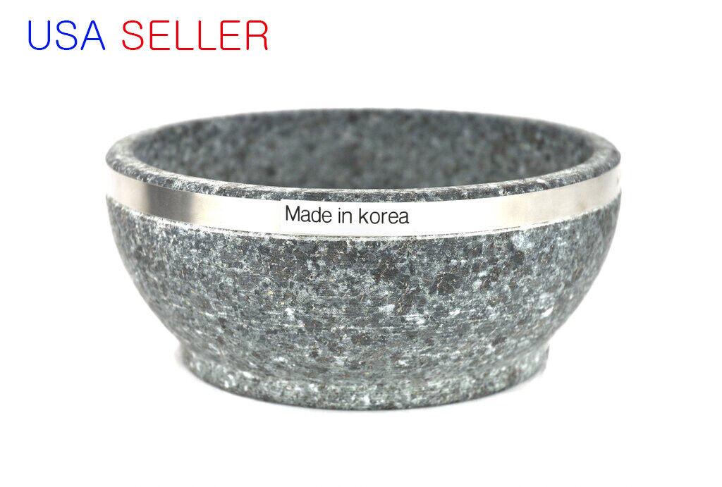 Korea Dolsot Bibimbap Stone Bowl, 32 oz with Melamine pot mat