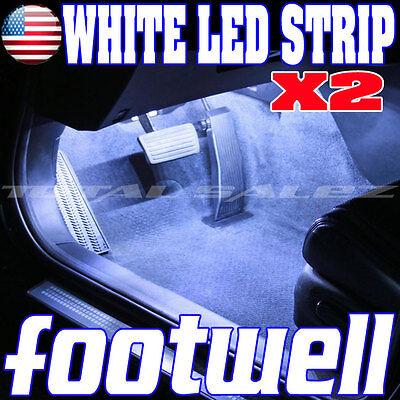 2X NEW WHITE LED FOOTWELL INTERIOR LED STRIP 2X12 UNDERDASH BULBS SMD  Z1 W4