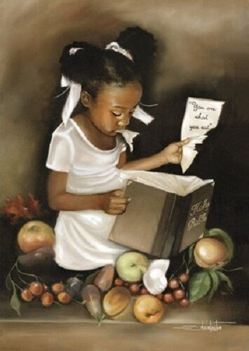 African American Art Print -You Are What You Eat Hers Edwin Lester Mini
