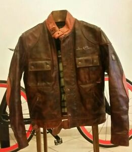 BELSTAFF-Steve-Mcqueen-leather-jacket-giacca-rare-42-xs-no-barbour-Gucci-Armani