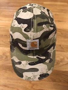 Carhartt-Logo-Patch-Boy-Green-Brown-Camouflage-Camo-Cap-Hat-Child-OSFM