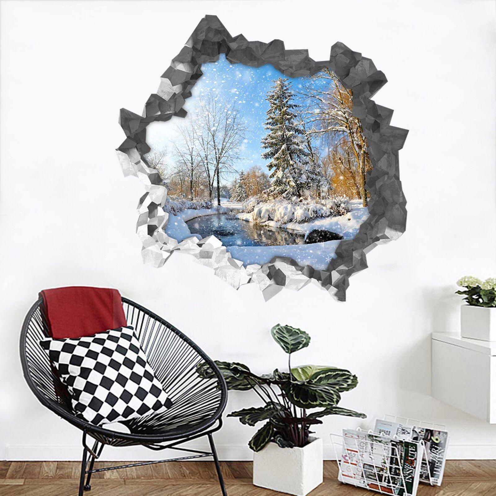 3D Bel Paesaggio Di Neve 206 Parete Murales Parete Adesivi Decal Sfondamento IT