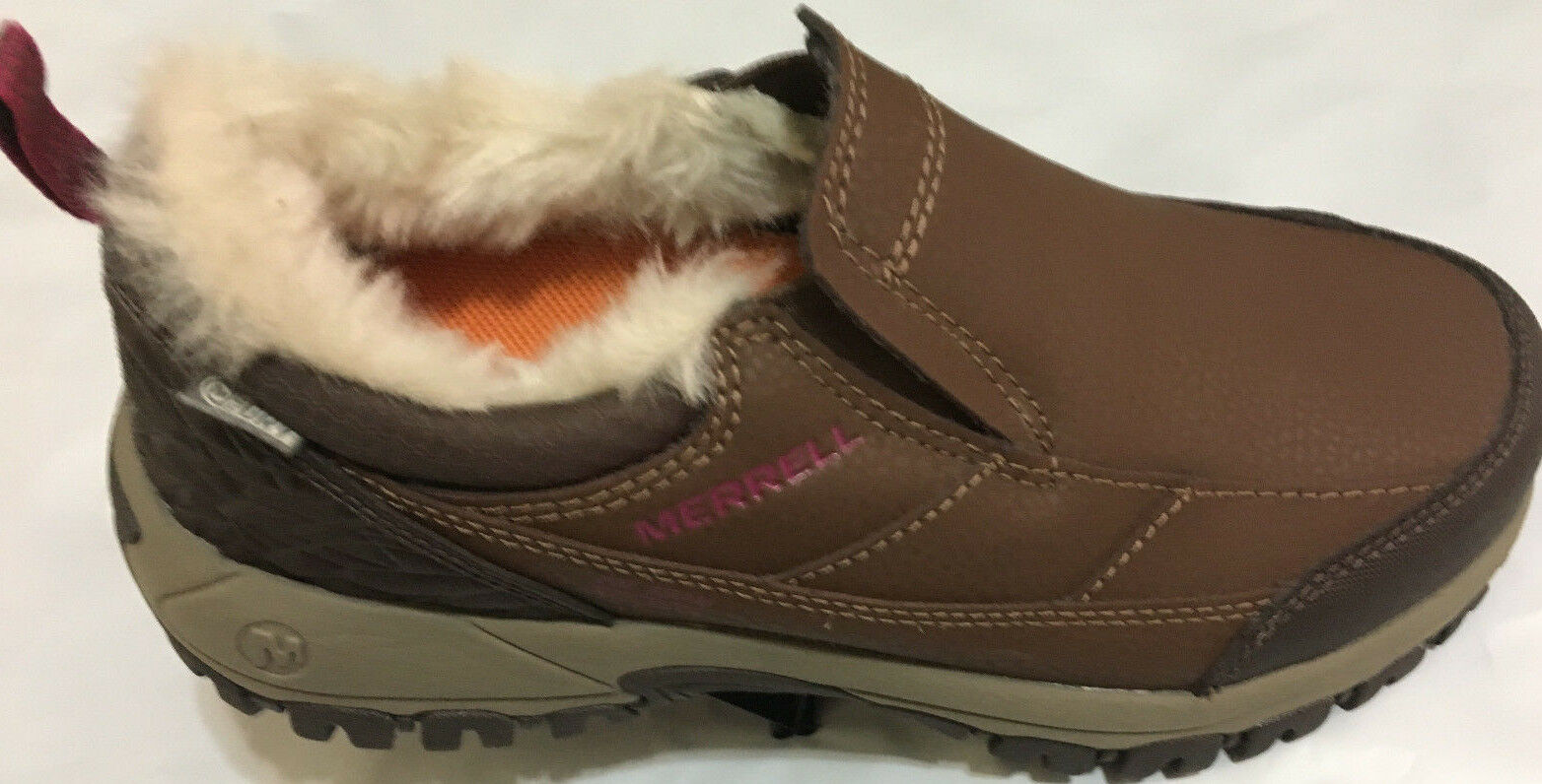 NIB MERRELL J317924C ENDERSY THERMO MOC WOMEN EARTH WTPF INSULATED SLIP ON Schuhe