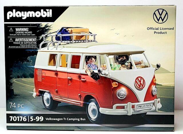 Playmobil Volkswagen T1 Camping VW Split Window Bus 70176 NEW IN STOCK RED