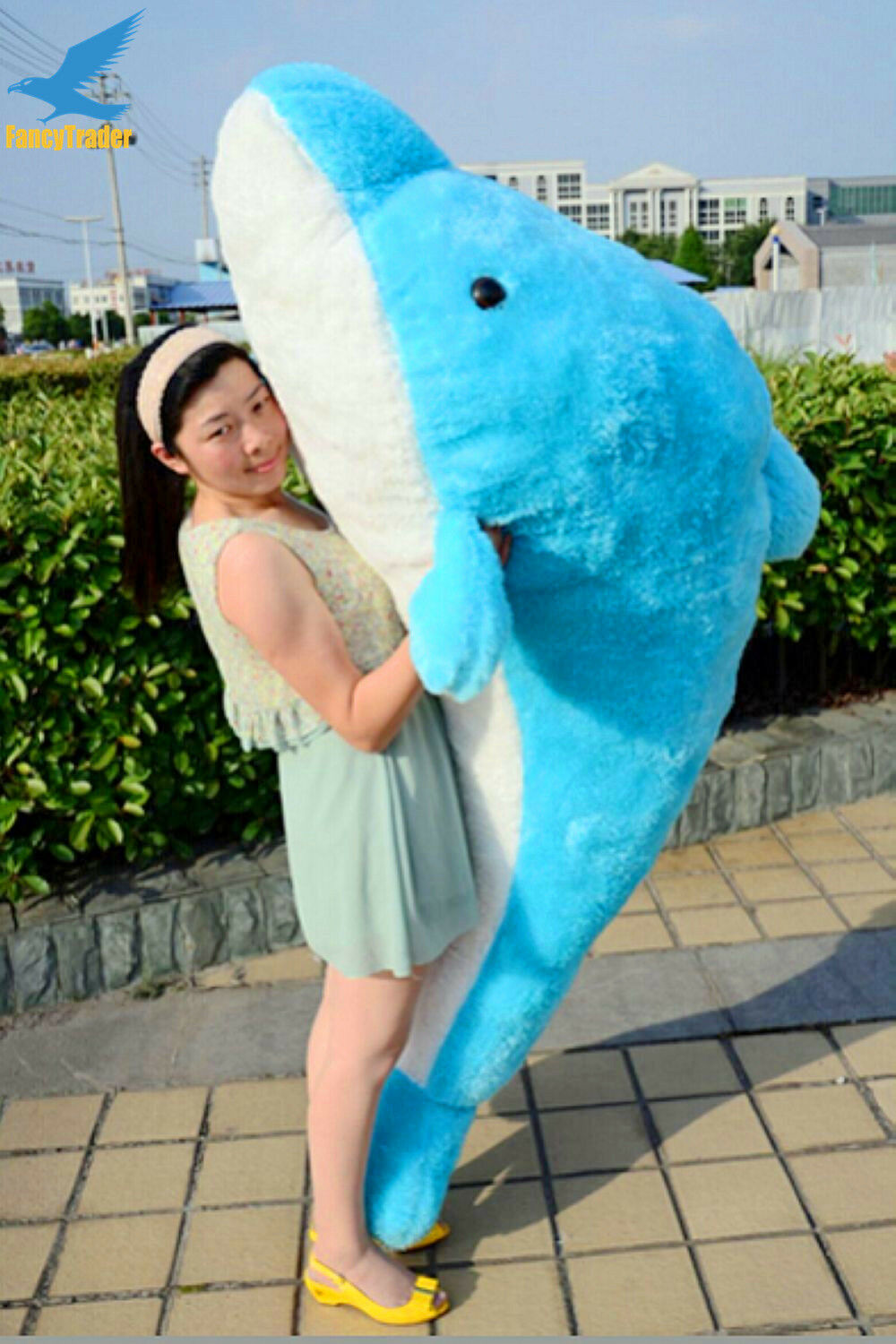 24  - 78  Birthday Stuffed Dolphin Toy Plush bluee Animals Doll Kids Best Gifts @