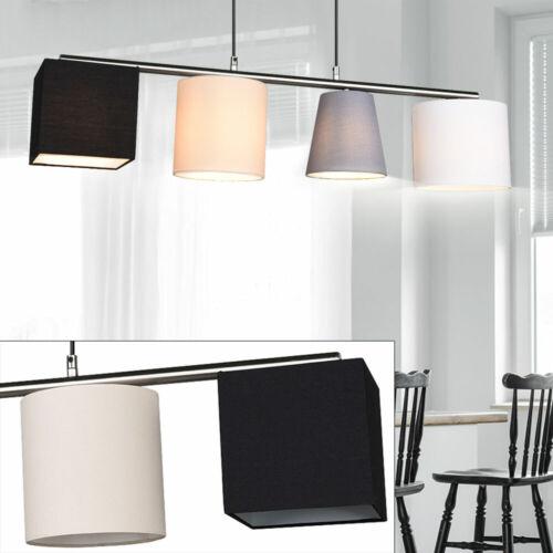 Textile De Plafond Projecteur Gris noir Design Pendule Suspendu Luminaire Lampe Beige Blanc