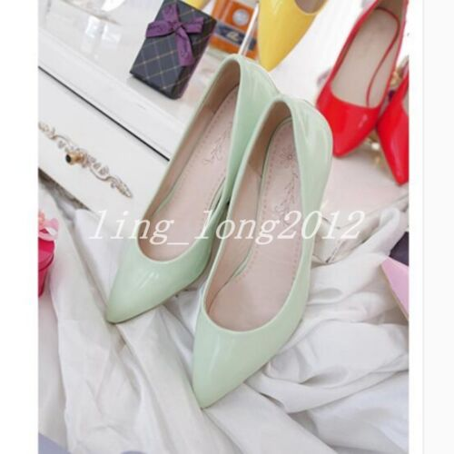 Stylish Hot Sale Multi Color New Womens Sweet Dress Shoes Low Heel Ladies Pumps