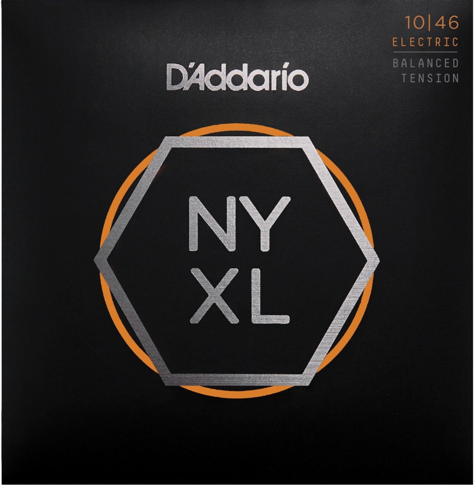 10 Sets D'Addario NYXL1046BT Balanced Tension 10-46 Guitar Strings