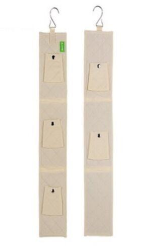 6 Hooks Handbag Bag Purse Holder Shelf Hanger Rack Storage Organizer double side