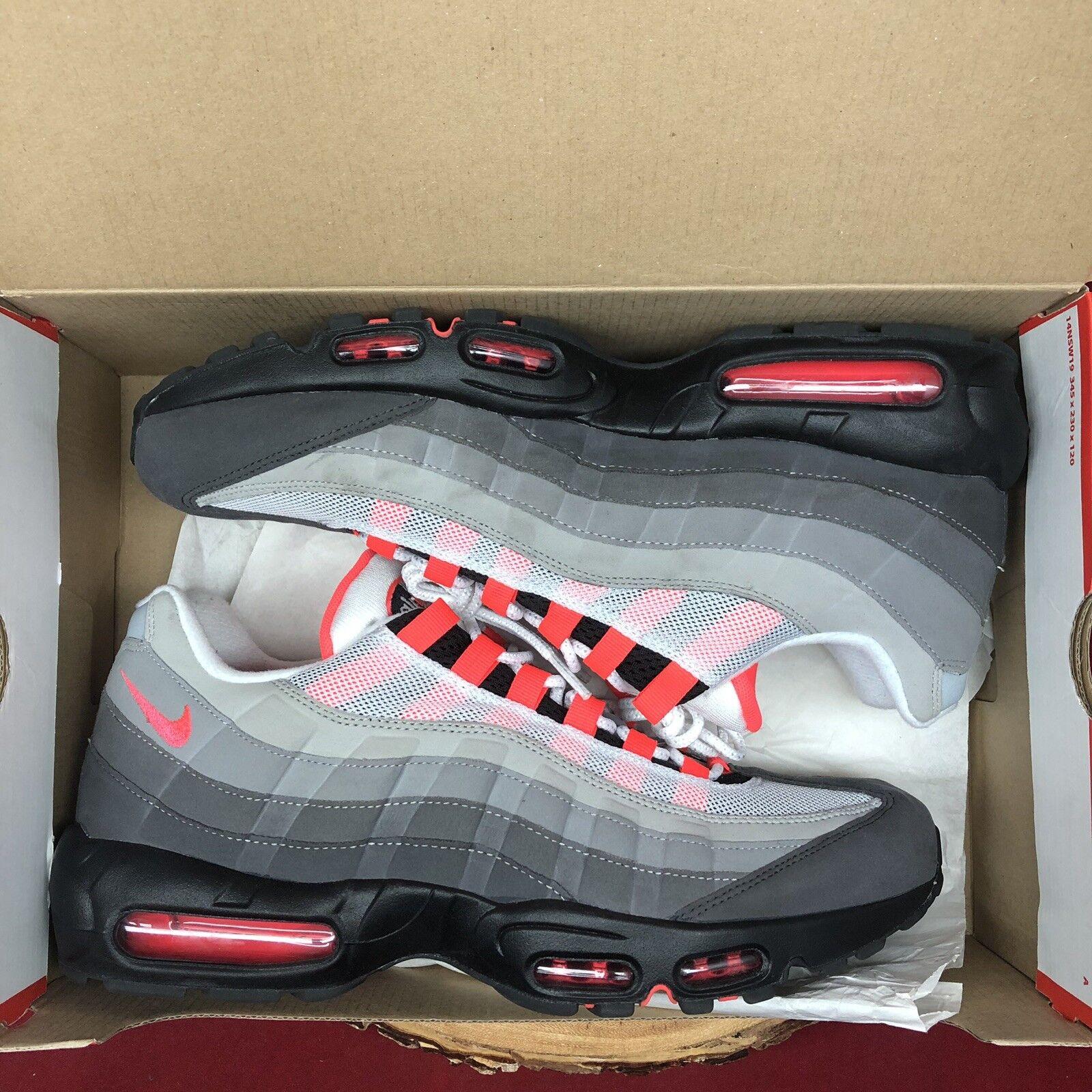 Nike Air Max 95 Solar Red Cool Dust Grey Size 12 AT2865 100 Elite 97 98 Jordan 2