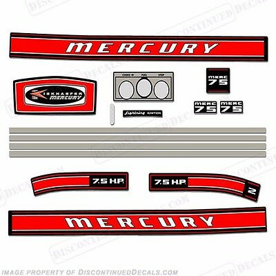 Reproduction Decals In Stock! Mercury 1966 9.8hp Outboard Decal Kit