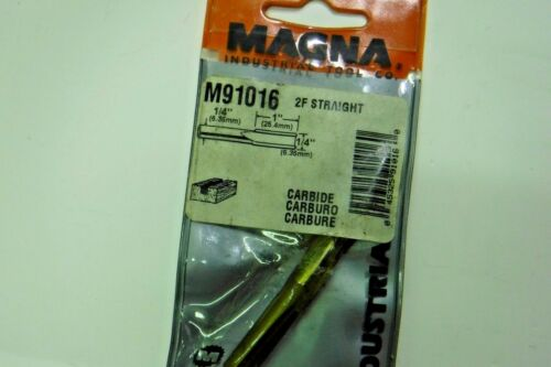 Magna Industrial Tool M91016 2F Straight Carbide Router Bit