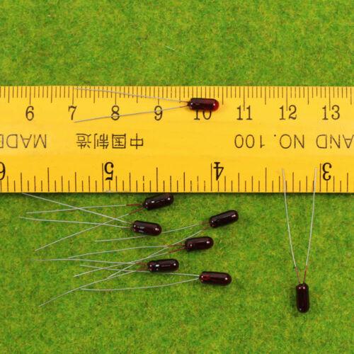 MP00R 200pcs Grain of Wheat  3mm Red 6V Miniature Bulbs