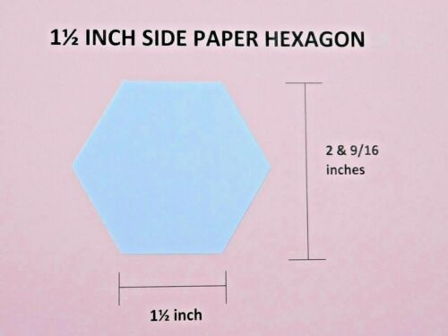 100 1.25 inch hexagon 120gsm paper templates English Paper Piecing patchwork