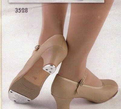 """NEW//BOX Narrow Character Tap Shoes Leather 1 1//2/"""" heel ladies #3528 Ladies Sizes"""