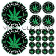 Medical Marijuana Decal Sticker Custom Vinyl Text Cannabis Decal Stickers 22 pcs