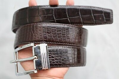 Gray Genuine Crocodile Leather SKIN Men/'s Belt-W 1.5 inch Without Jointed