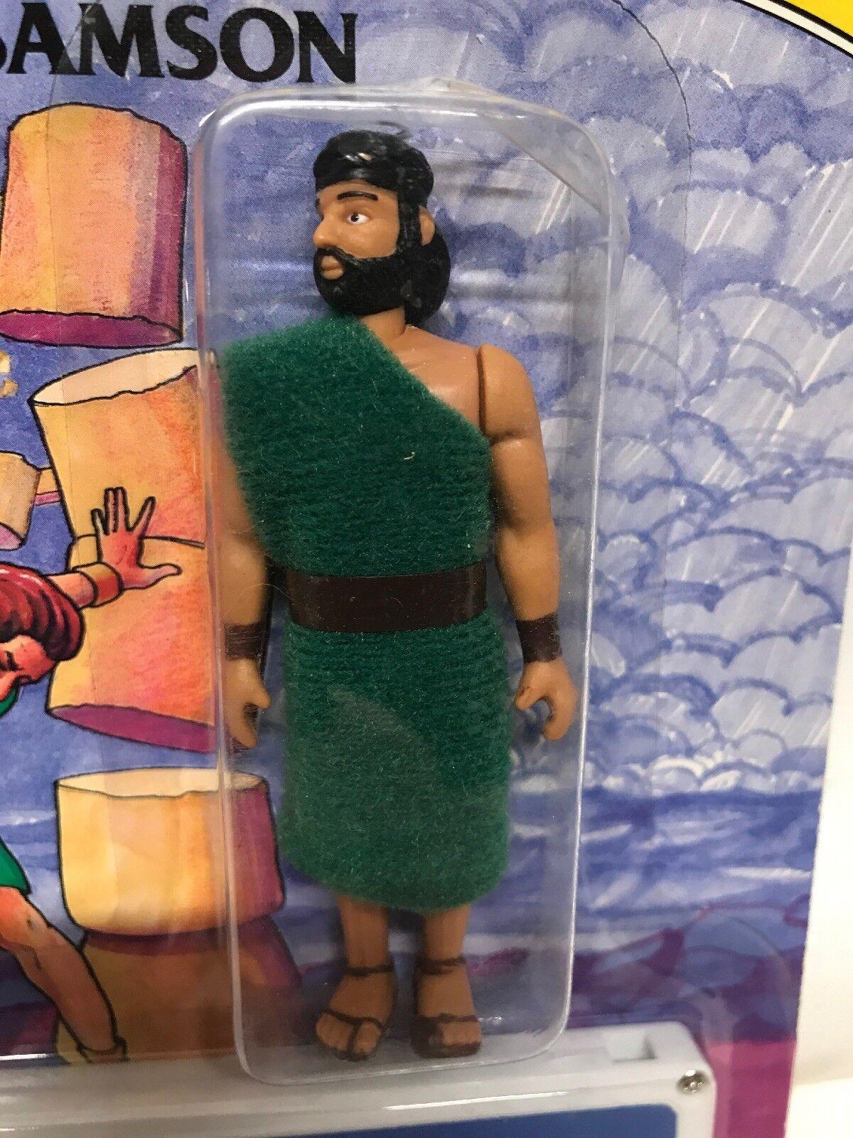 BIBLE BIBLE BIBLE GREATS Vintage 1991 Bible Action Figure Samson Factory Sealed Scarce 453b13