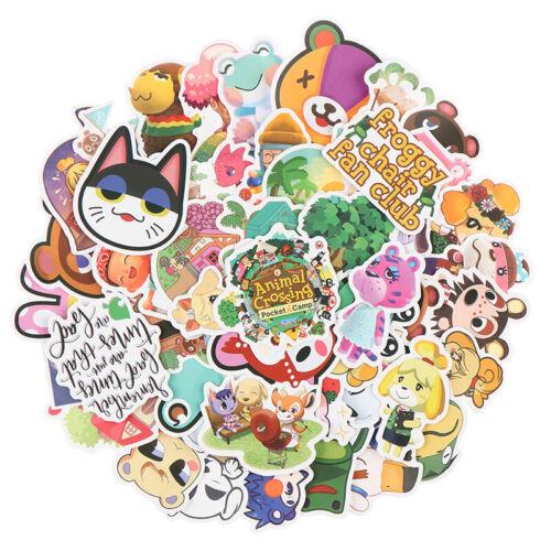 50Pcs Animal Crossing Game Stickers Skateboard Fridge Laptop Luggage Stickjiguc