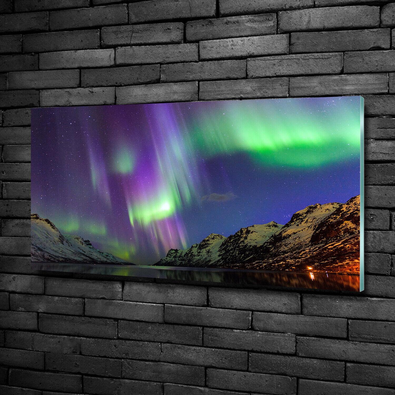 Acrylglas-Bild Wandbilder Druck 100x50 Deko Landschaften Nordlicht