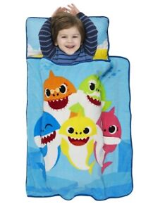 Baby Shark Preschool Nap Mat for Toddlers Kids Soft Naptime Sleepovers Travel