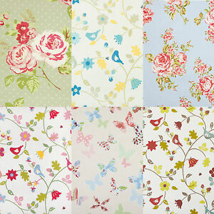 Floral PVC Oilcloth Wipe Clean Tablecloth Cover All Sizes Colours & Designs