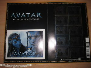 AVATAR-BLOC-FEUILLET-AUTO-ADHESIFS-metalises-RARE-COLLECTOR-NEUF-10-TIMBRES
