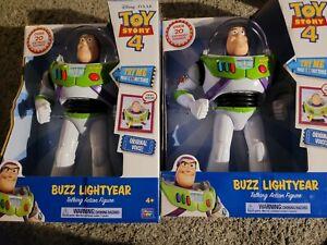"1 Disney Pixar Toy Story 4 Buzz Lightyear 12"" Action Talking Figure 20+ Saying"
