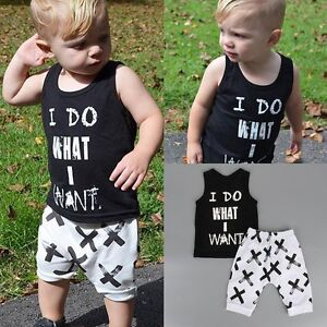 6d270f8b4beb 2pcs Toddler Kids Baby Boy T-shirt Tops+Shorts Pants Summer Outfits ...