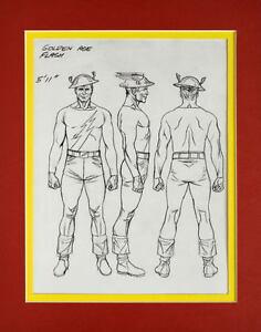 Jay Garrick Golden Age Flash Model Sheet Print Professionally